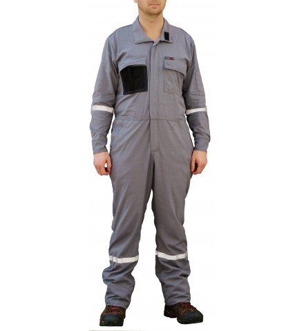 Summit Breeze® FR Vented Coverall, Inherent Blend,  Lightweight 5.5 oz. Ripstop, With Silver Reflective Tape
