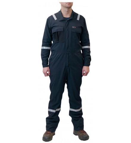 Summit Breeze® FR Vented Coverall, Inherent Blend,  Lightweight 5.5 oz. Ripstop, With Silver Reflective Tape (OUT OF STOCK)
