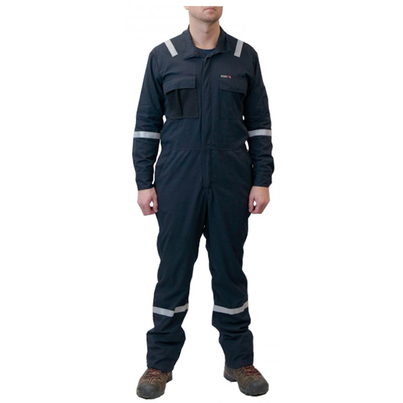 <strong>Summit Breeze®</strong> FR Vented Coverall, Inherent Blend,  Lightweight 5.5 oz. Ripstop, With Silver Reflective Tape