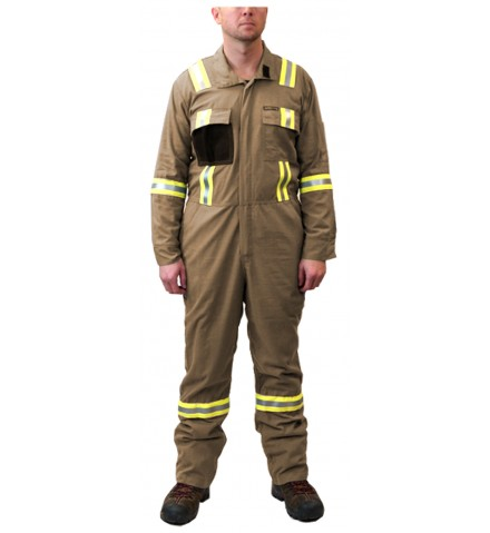Summit Breeze® FR Vented Coverall, Lightweight 5.5 oz. Ripstop  Inherent Blend  With Triple Trim Reflective Tape (OUT OF STOCK)
