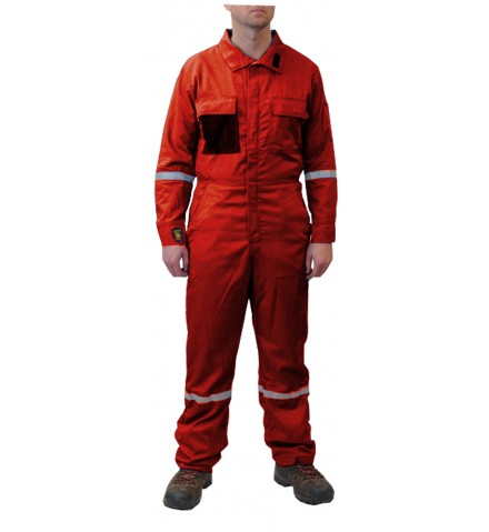 MCR Summit Breeze® FR Vented Coverall, 7 oz. 100% FR Cotton With Silver Reflective Tape