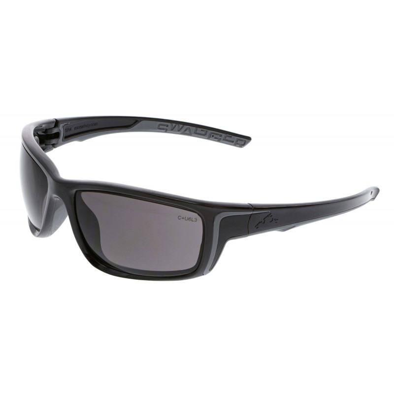<strong>MCR Safety</strong> Swagger® SR4 Gray MAX6™ Lens with Black Frame Black Temples with Black TPR