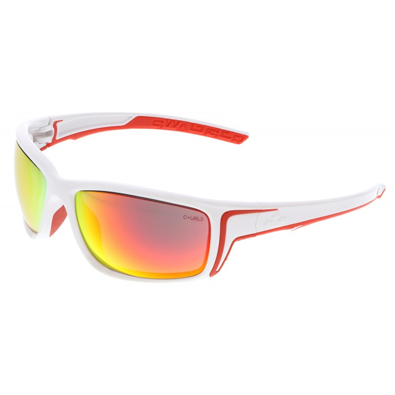 <strong>MCR Safety</strong> Swagger® SR4 Fire Mirror Lens with White Frame White Temples with Red TPR