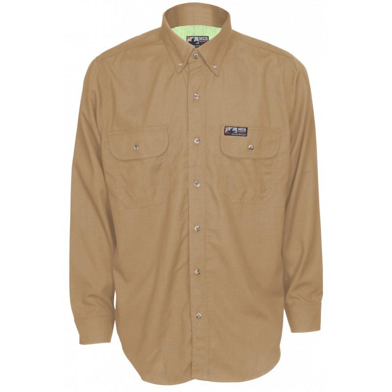<strong>MCR Summit</strong> Breeze® FR Vented Inherent Blend Shirt-Tan