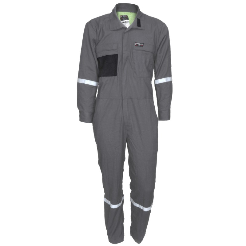 <strong>MCR Summit</strong> Breeze® FR Vented Coverall, Inherent Blend, Lightweight 5.5 oz. Ripstop Reflective Tape