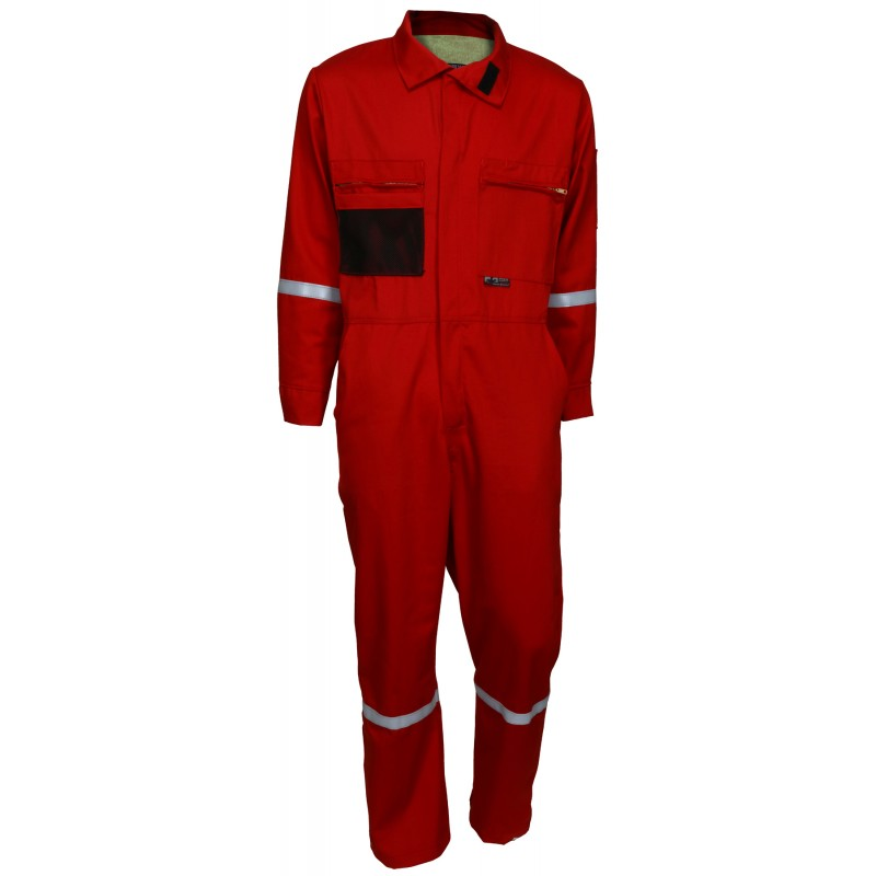 <strong>MCR Summit</strong> Breeze® FR Vented Coverall, 7 oz. 100% FR Cotton With Silver Reflective Tape